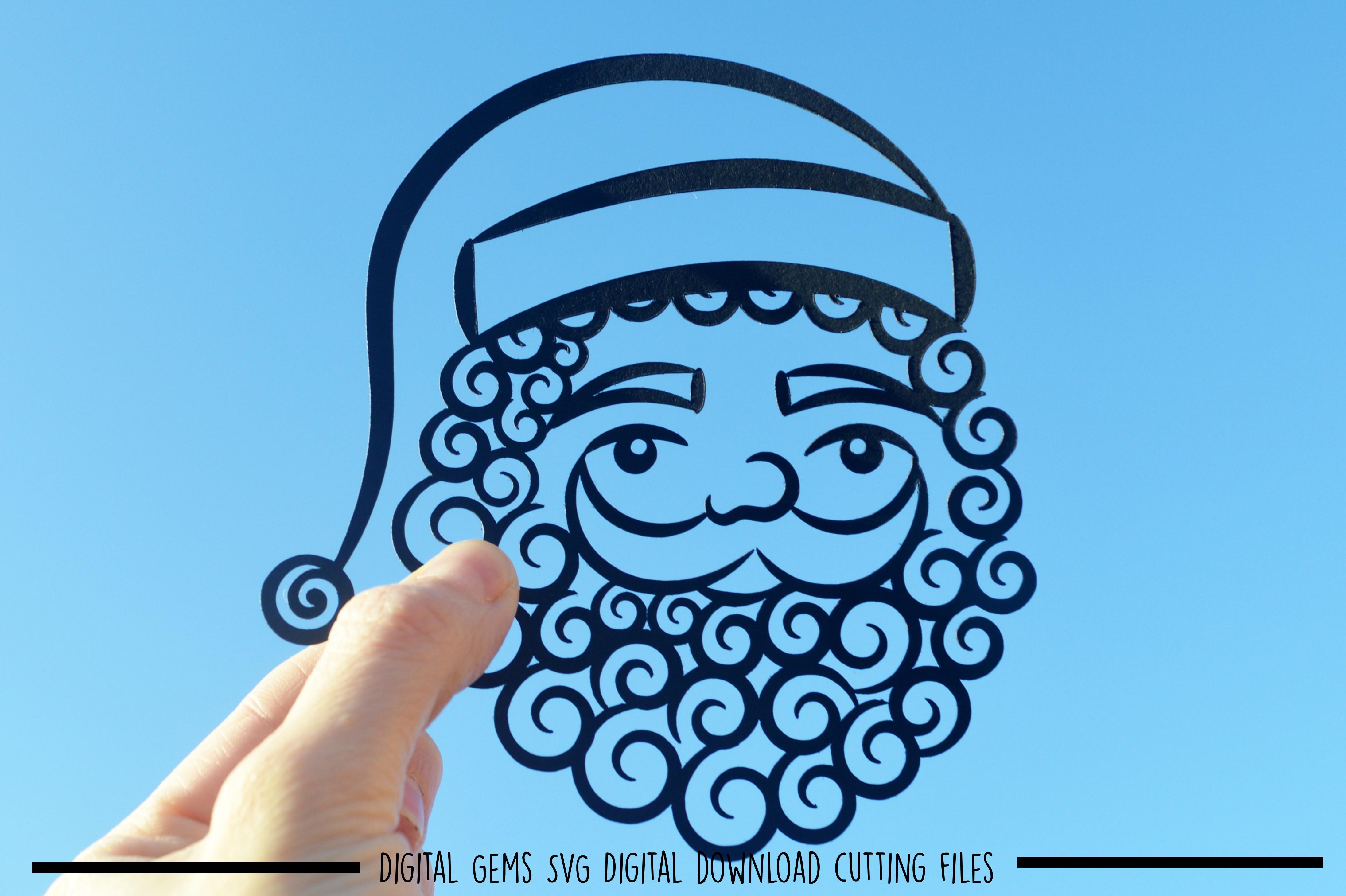 Santa paper cut SVG / DXF / EPS files example image 1