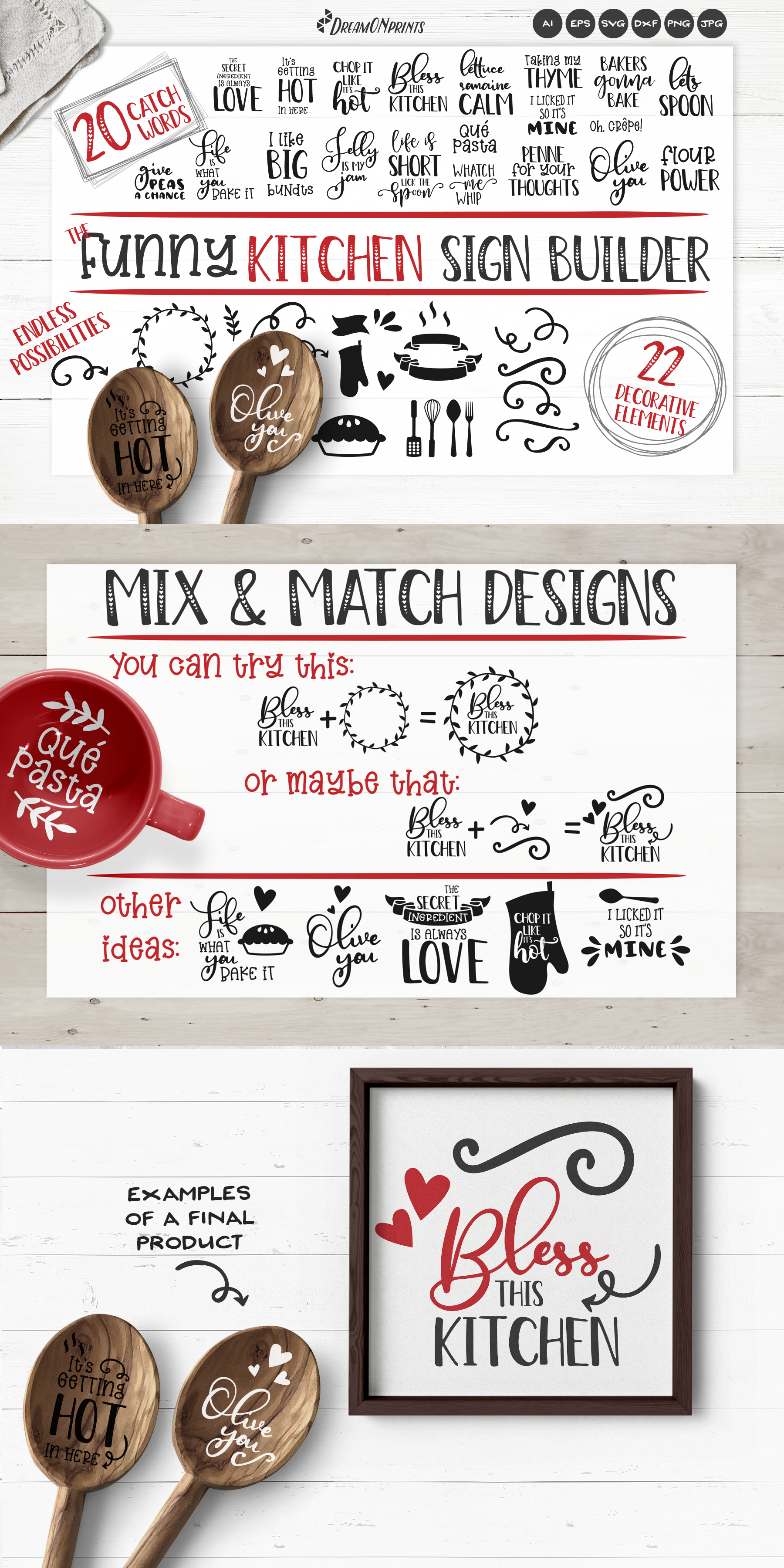 Kitchen SVG Bundle | Funny Kitchen Sign Builder example image 2