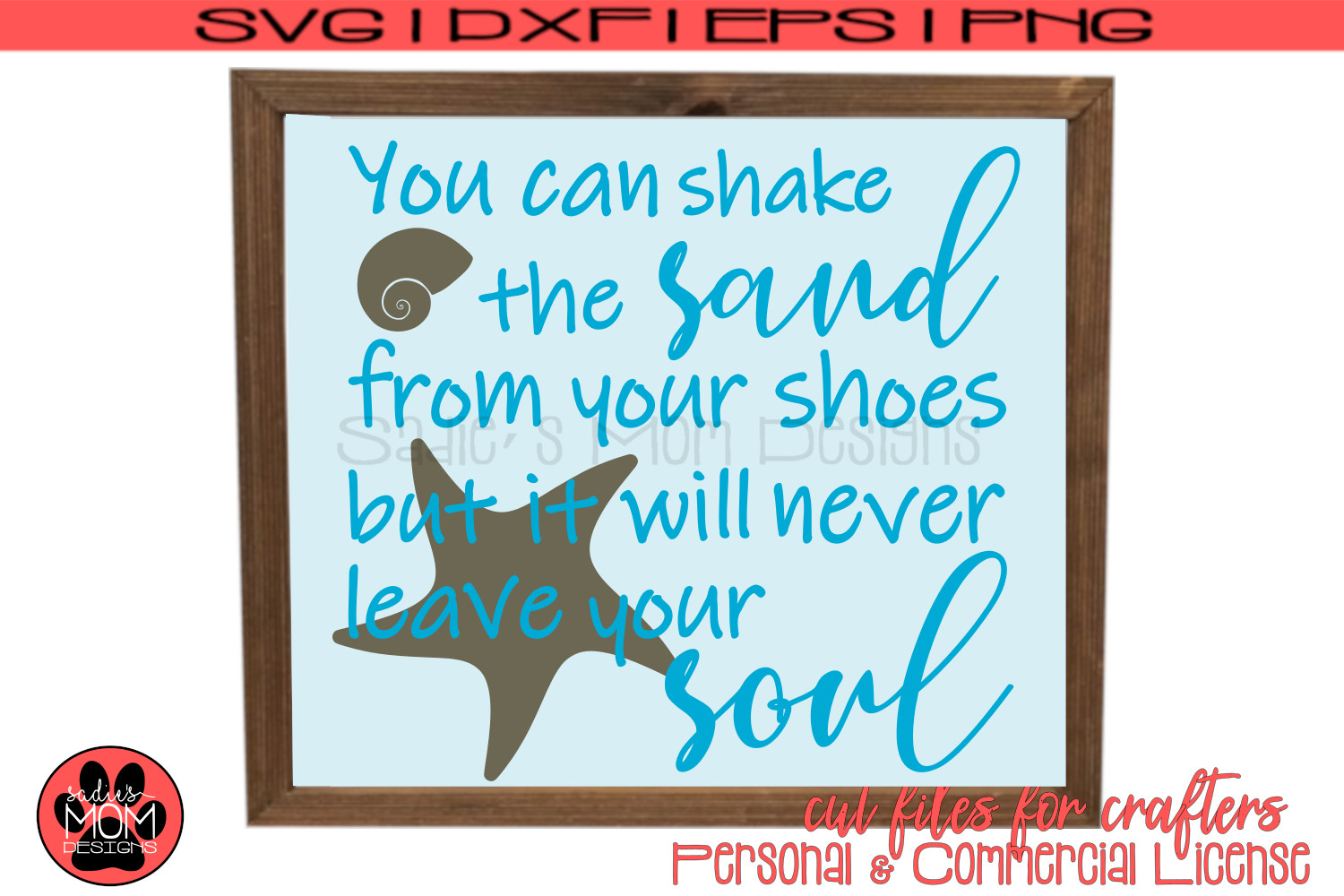 Shake the Sand SVG Files| Layered and Stencil Cut Files example image 3