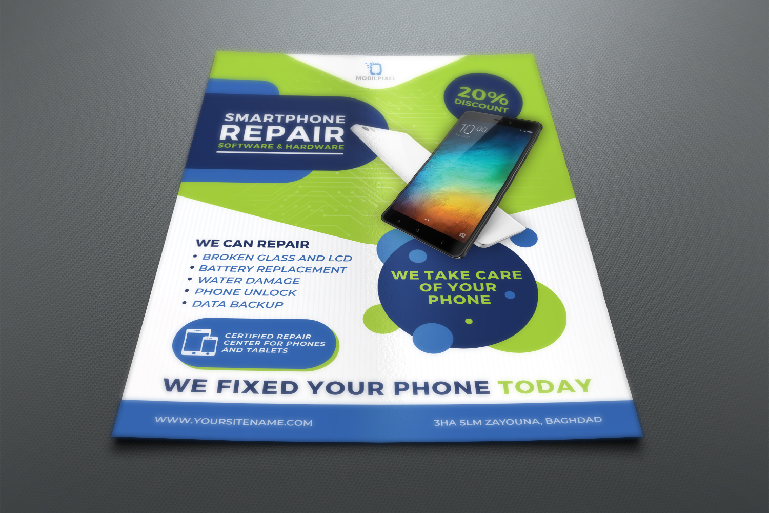 Smartphone Repair Service Flyer Template example image 2