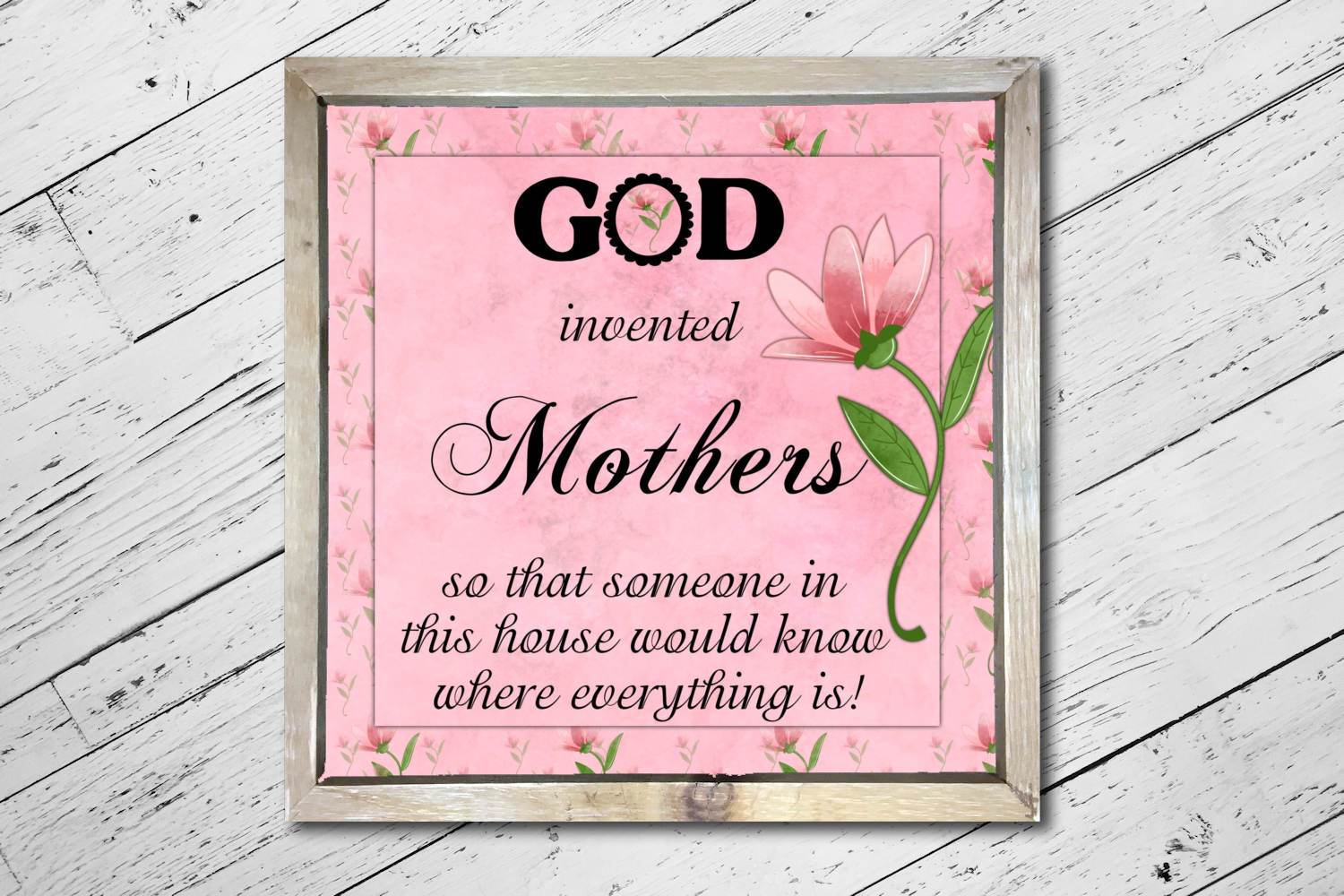 God Invented Mothers Print example image 2