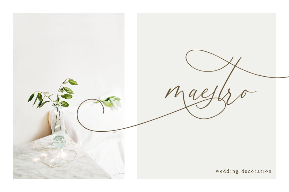 Simplicity Angela - Calligraphy Font example image 8