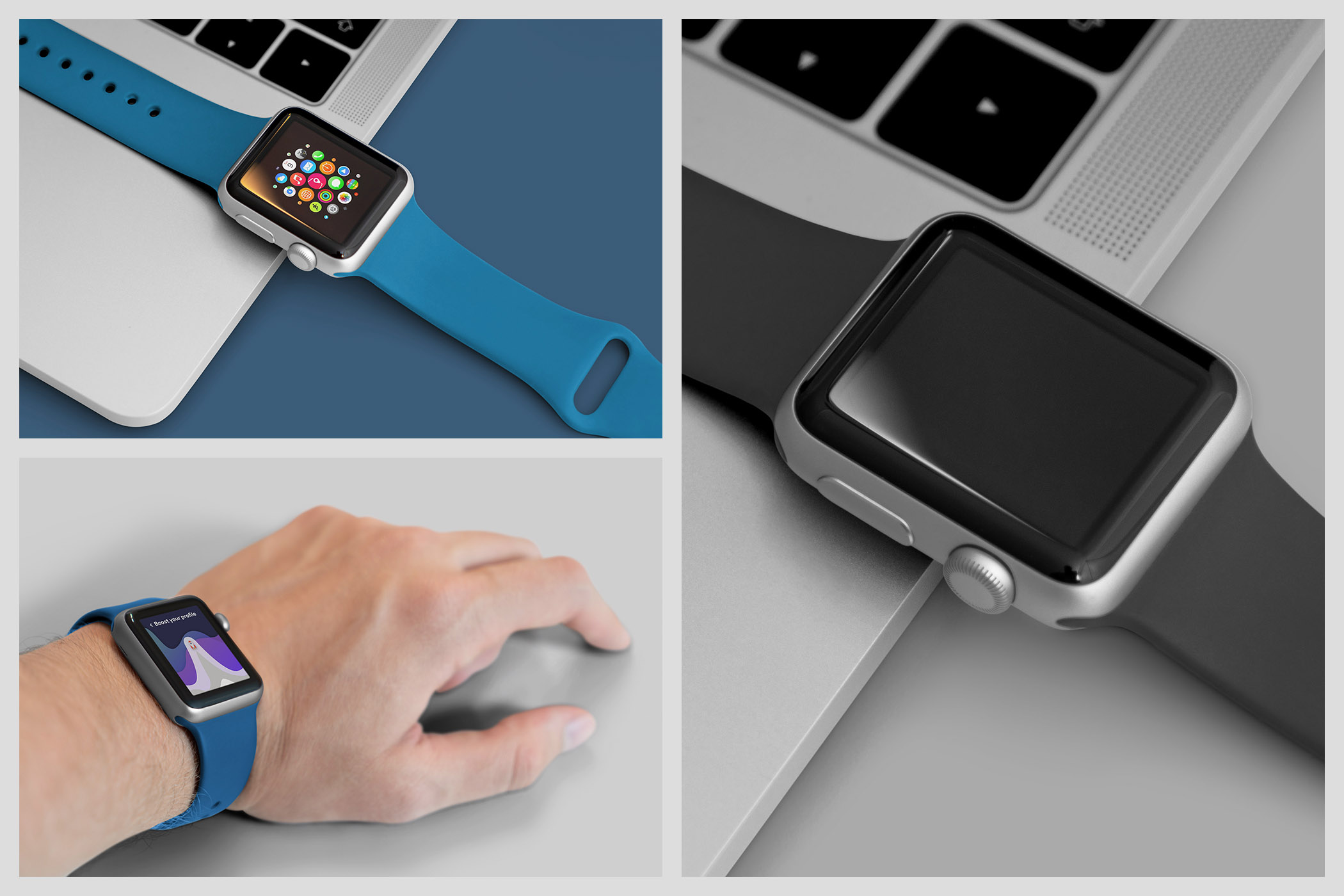 Realistic Smart Watch Mockups example image 10