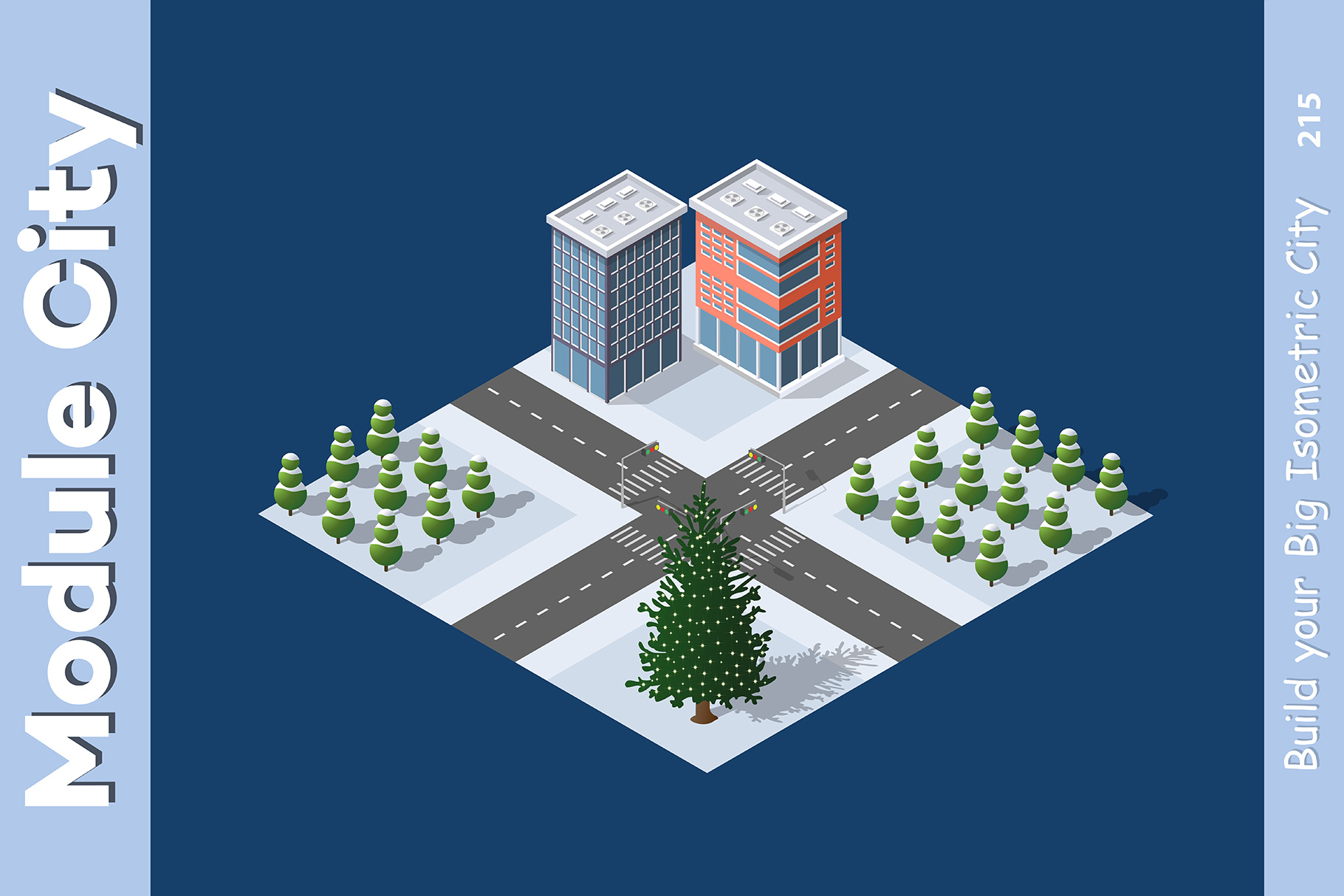 Isometric set module city example image 11