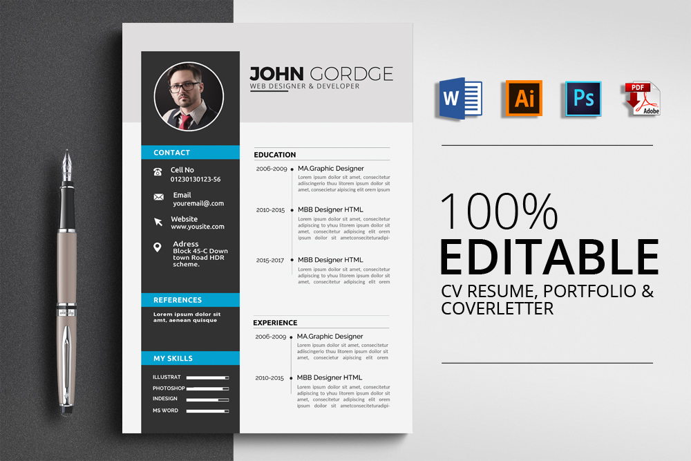 Cv Resume Corporate Design example image 1