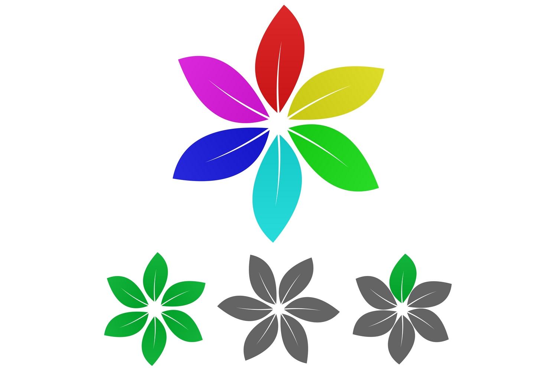 20 floral leaf logo designs (EPS, AI, SVG, JPG 5000x5000) example image 2