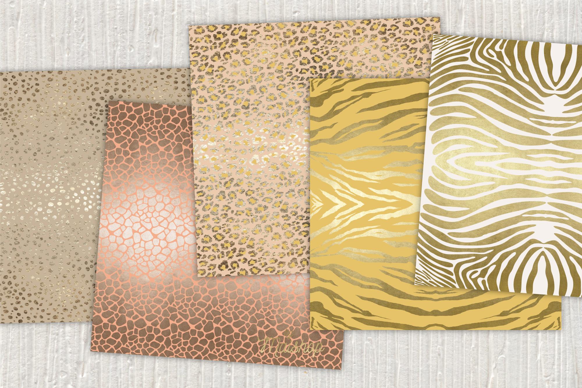 "Digital Paper Pack ""Africa Skins"" Set 03 example image 3"