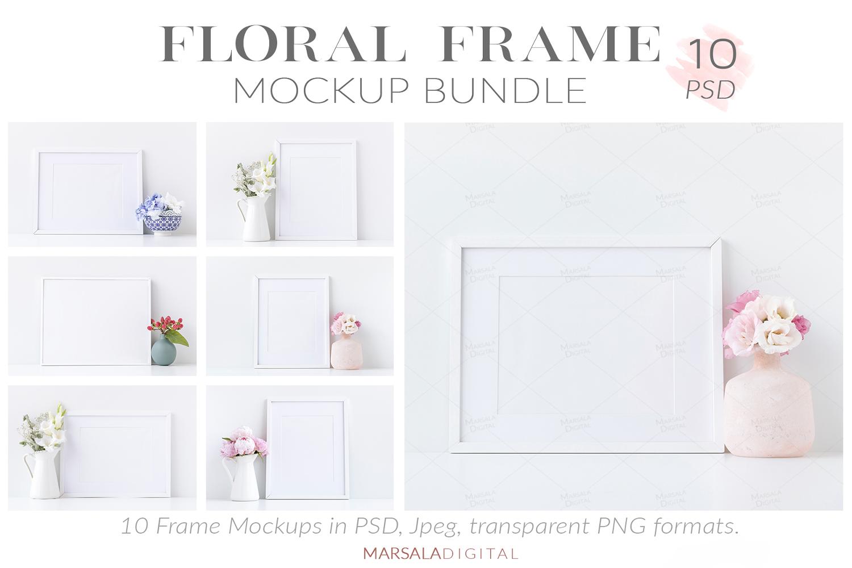 Massive Interior Wall Mockup, Frame Mockup Bundle FREE sampl example image 18