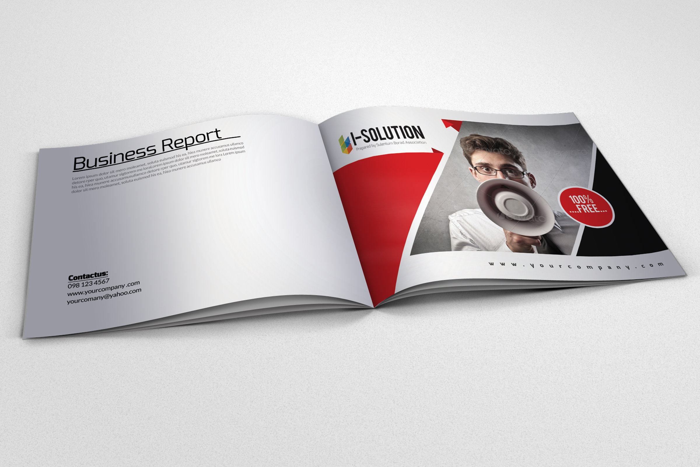 Promotion & Marketing Business Bifold Brochure example image 1