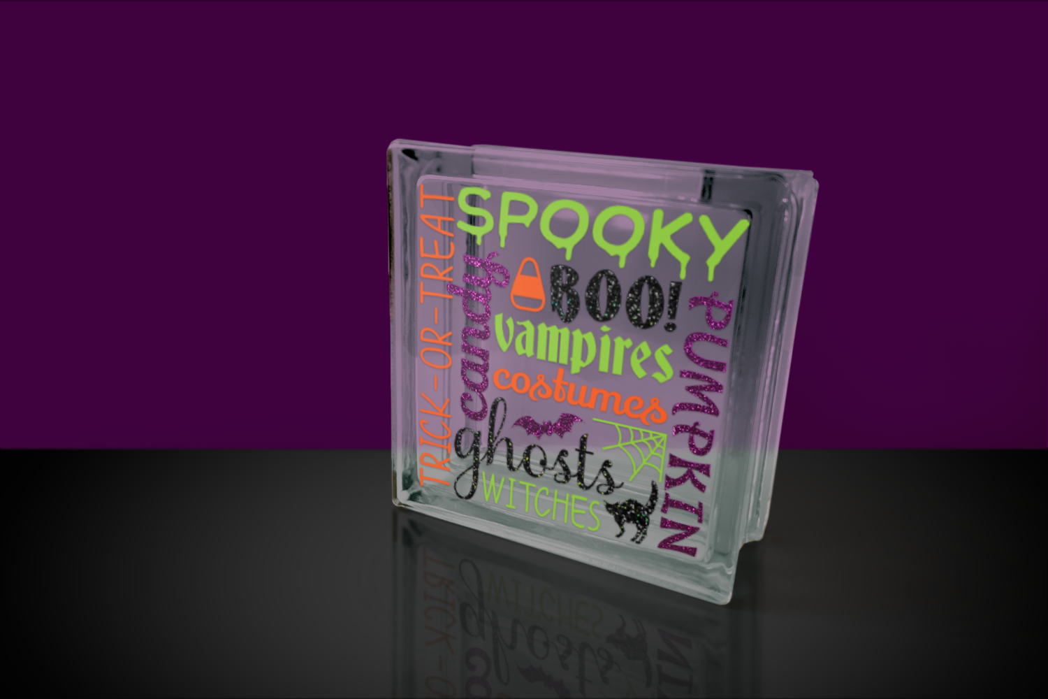 Halloween Subway Art SVG File Cutting Template example image 2