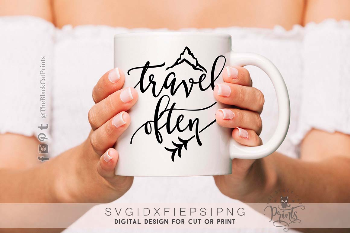 Travel often SVG DXF PNG EPS example image 4