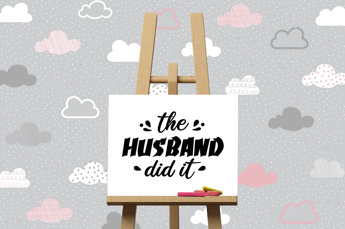Pregnancy Announcement SVG Cut Files - The Husband did it example image 3