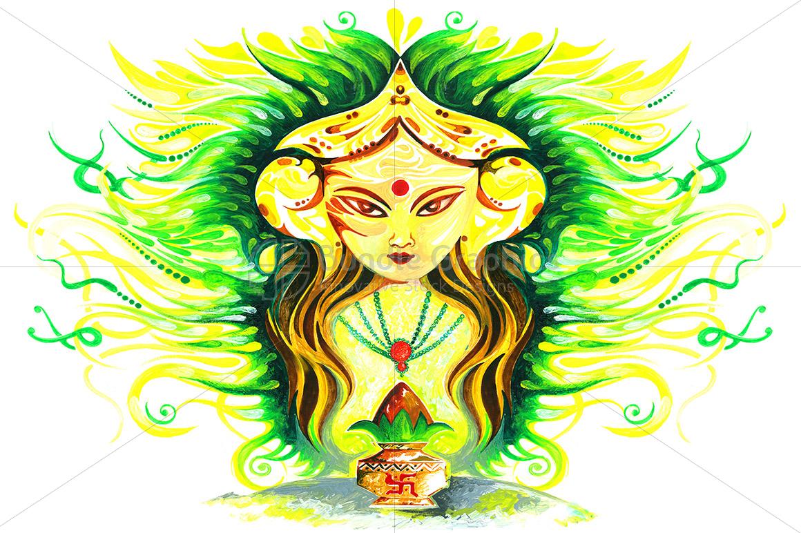 Lakshmi Durga - Abstract Painting example image 1