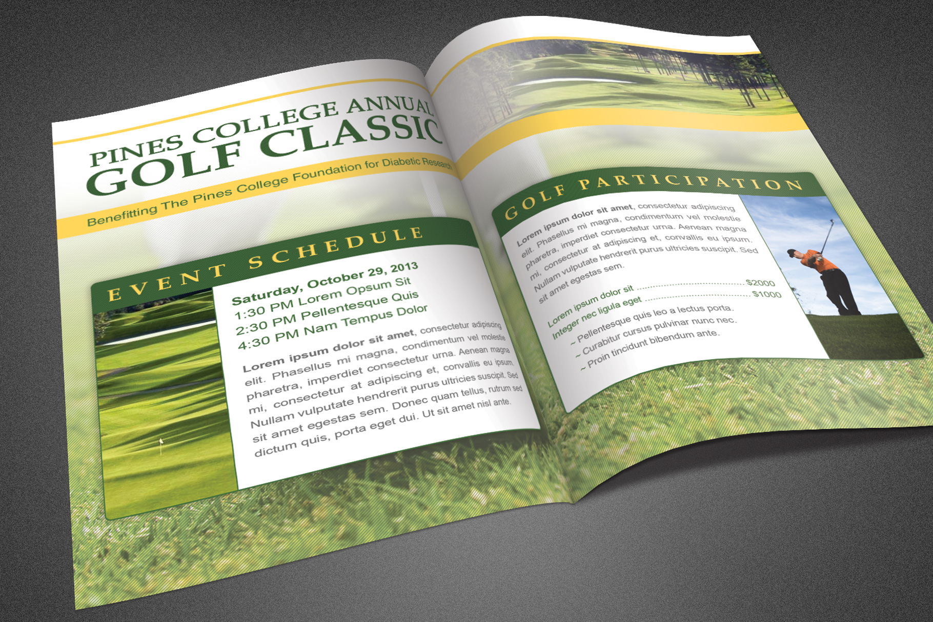 Golf Classic Booklet Template example image 3
