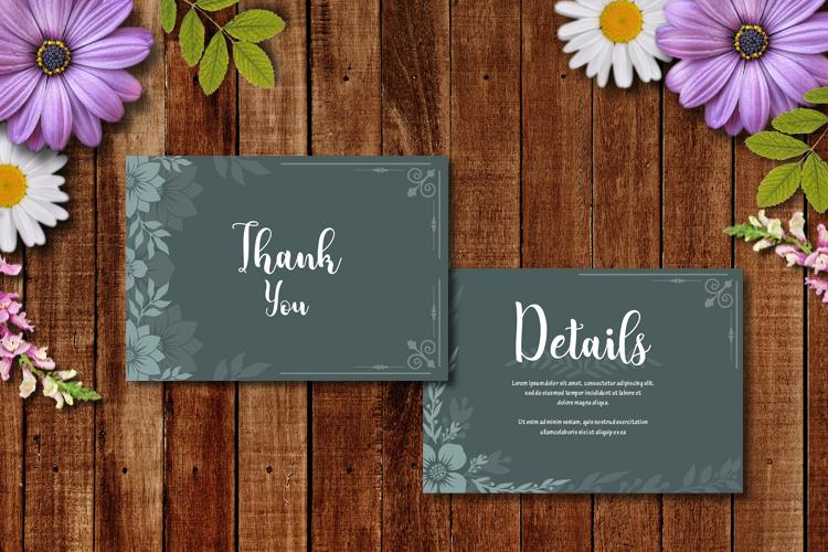 Floral Wedding Invitation example image 4