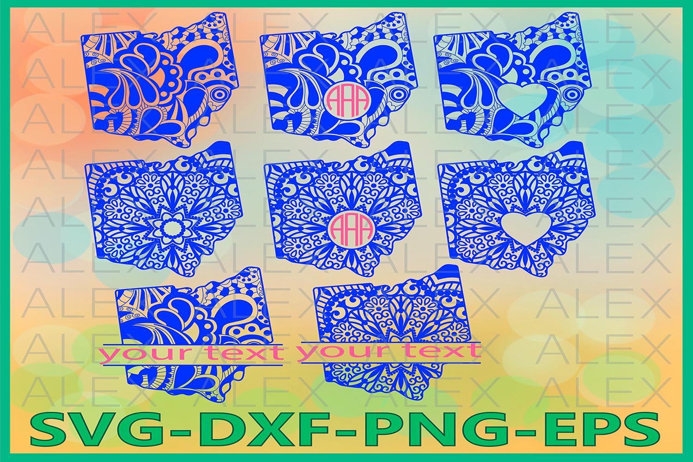 Ohio State SVG, Ohio Mandala SVG, Ohio Svg Files example image 1