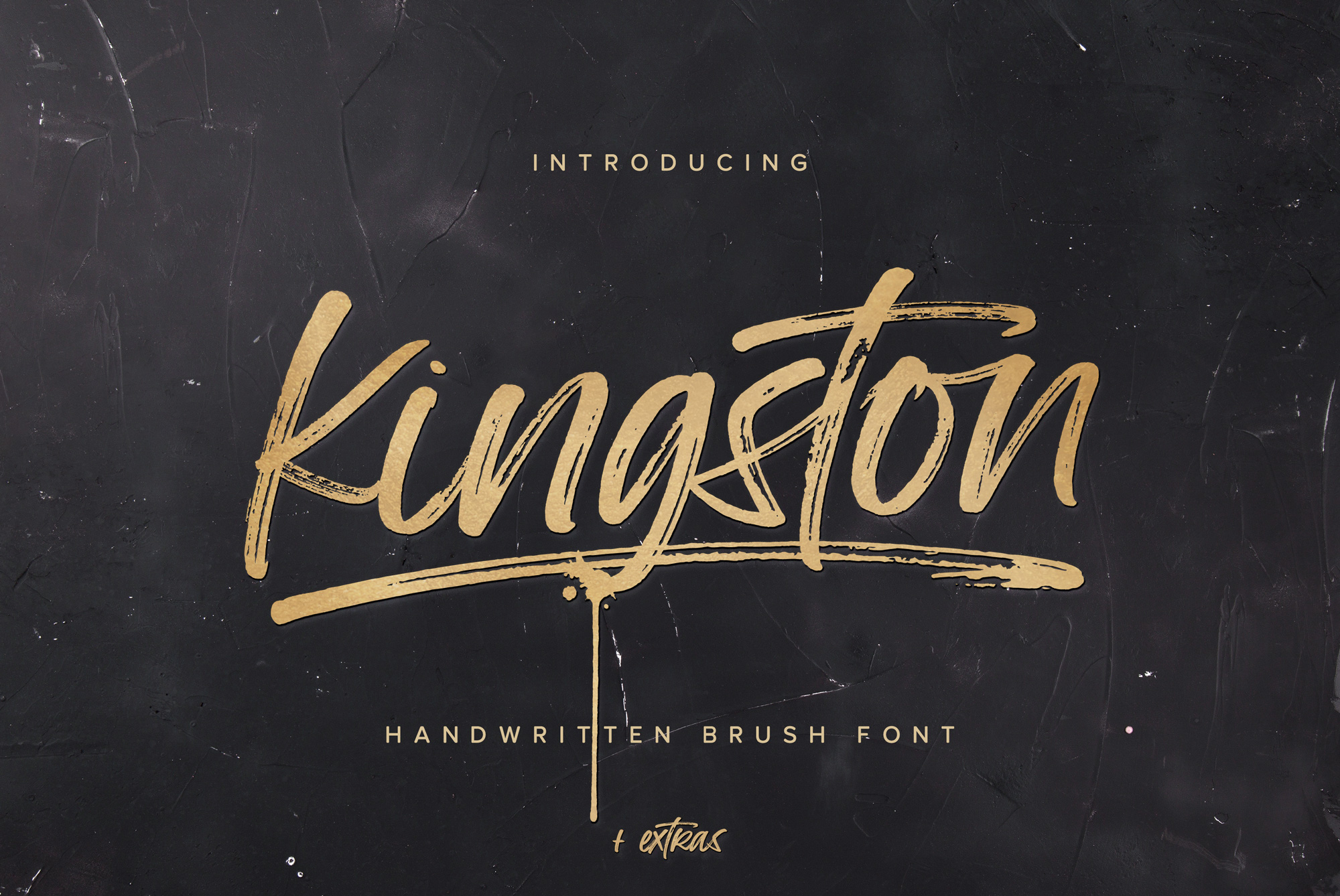Kingston Handwritten Brush Font And Extras example image 1