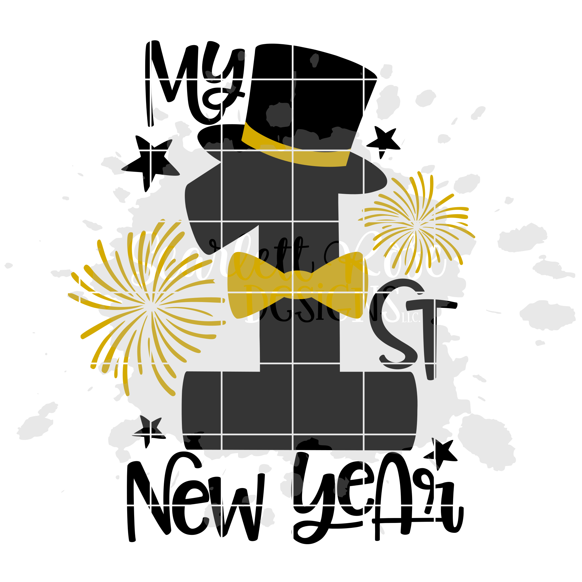 My First New Year - Boy - New Year's SVG example image 2