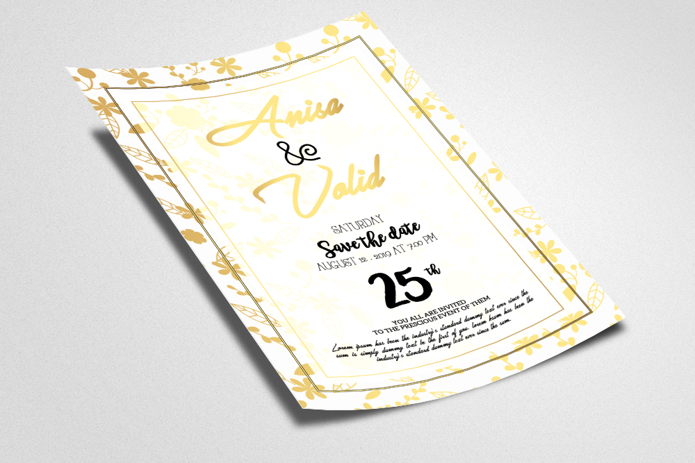Wedding Invitation Flyer example image 2