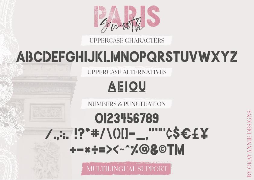 PARIS, Je T'aime Font Duo example image 16
