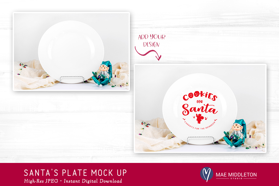Christmas Mock up - Santa's Plate, Cookies for Santa example image 2