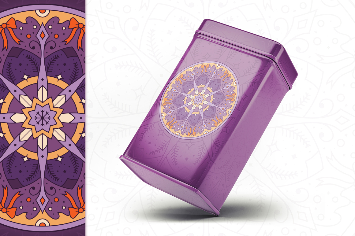 100 Christmas Mandala Ornaments example image 22