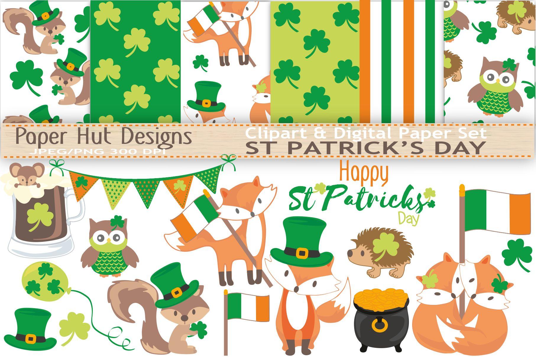 St-Patrick's Day Clipart (64179) | Characters | Design Bundles