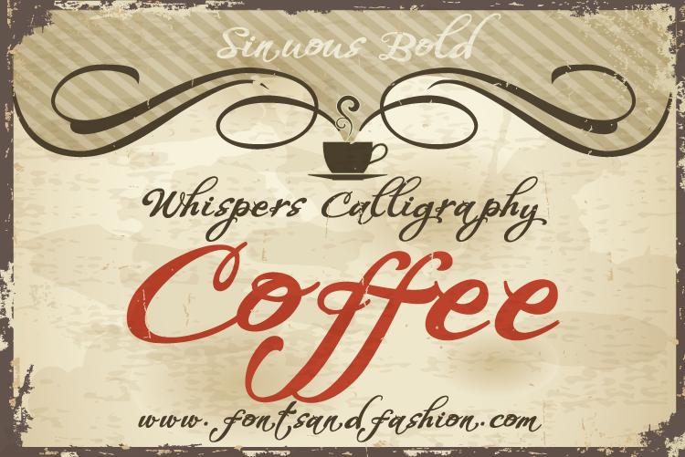 Whispers Calligraphy Sinuous_Bold example image 2