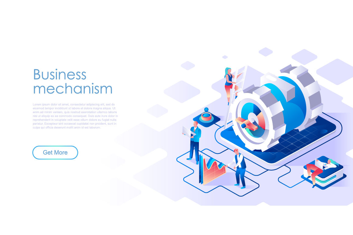 Bundle Isometric Landing Page Template Header example image 13
