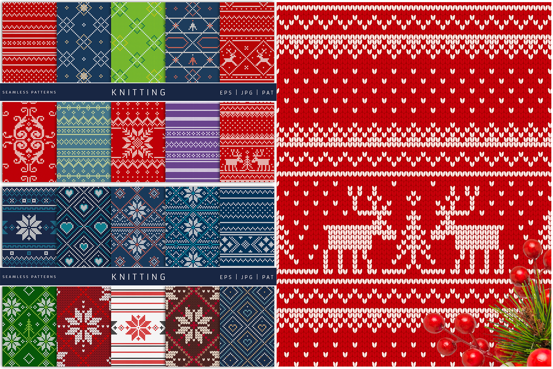 100 Seamless Patterns Vol.4 Christmas example image 2