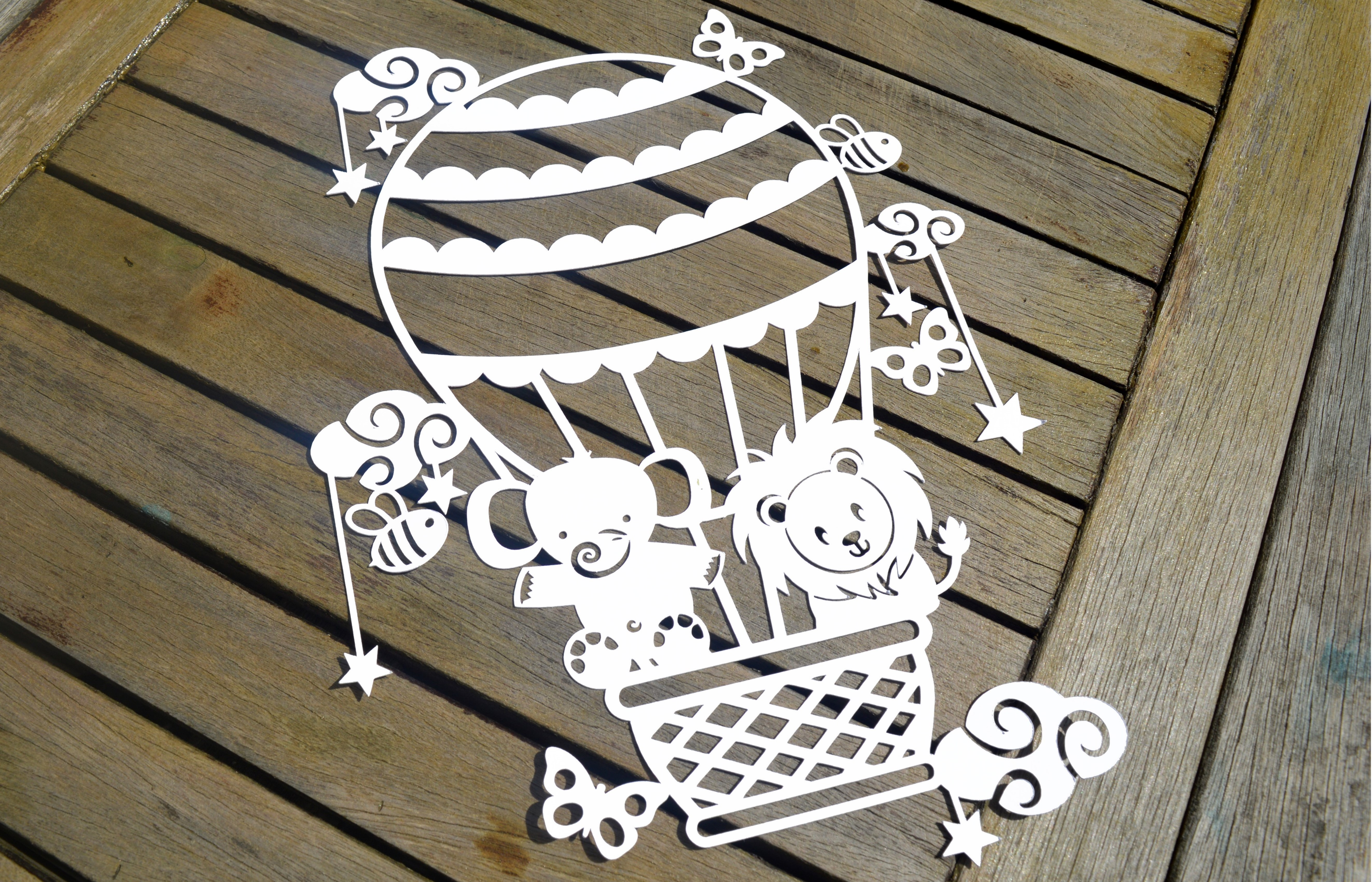 Hot Air Balloon SVG / DXF / EPS files example image 6