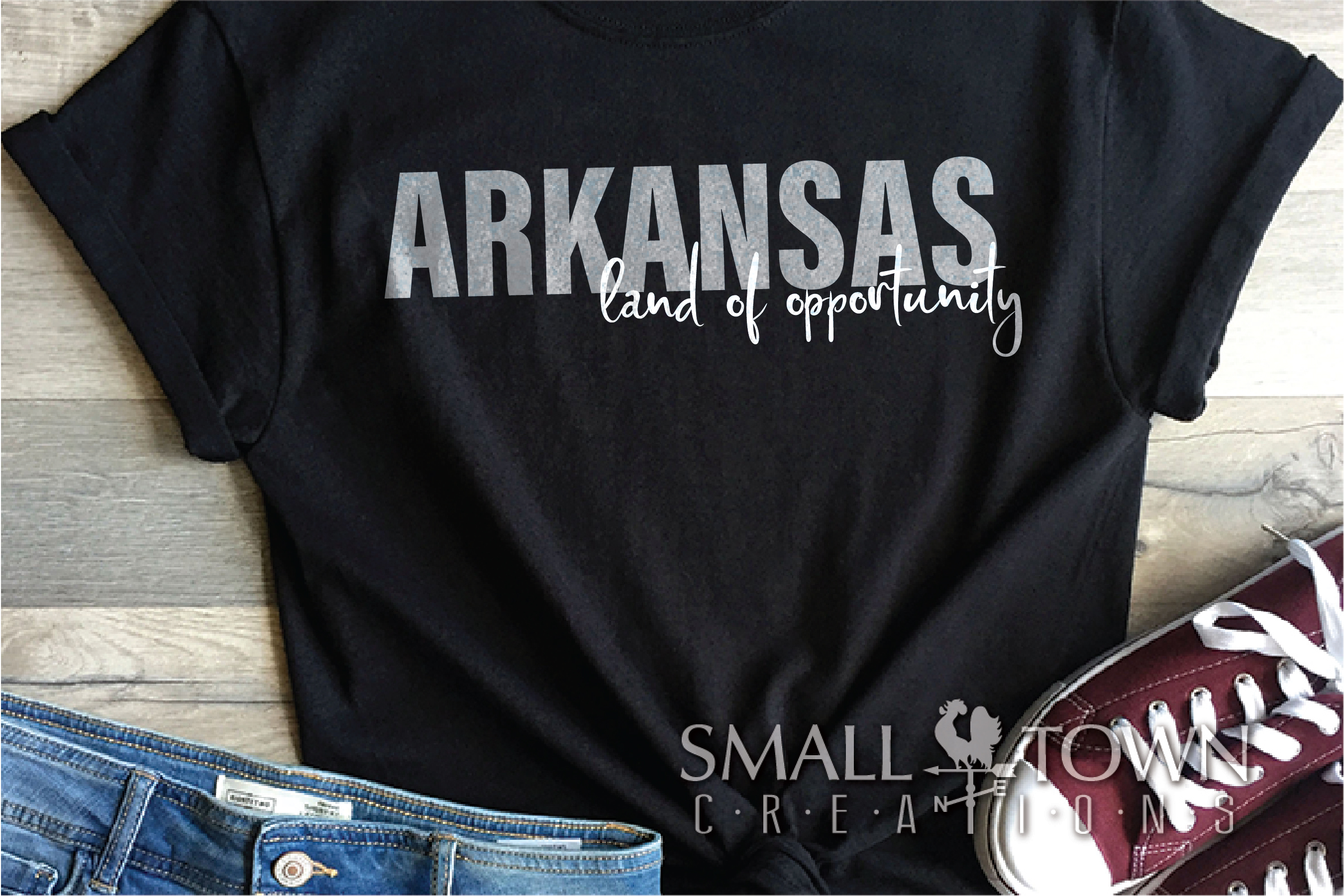 Arkansas, Land of Opportunity, Logo, PRINT, CUT & DESIGN example image 4