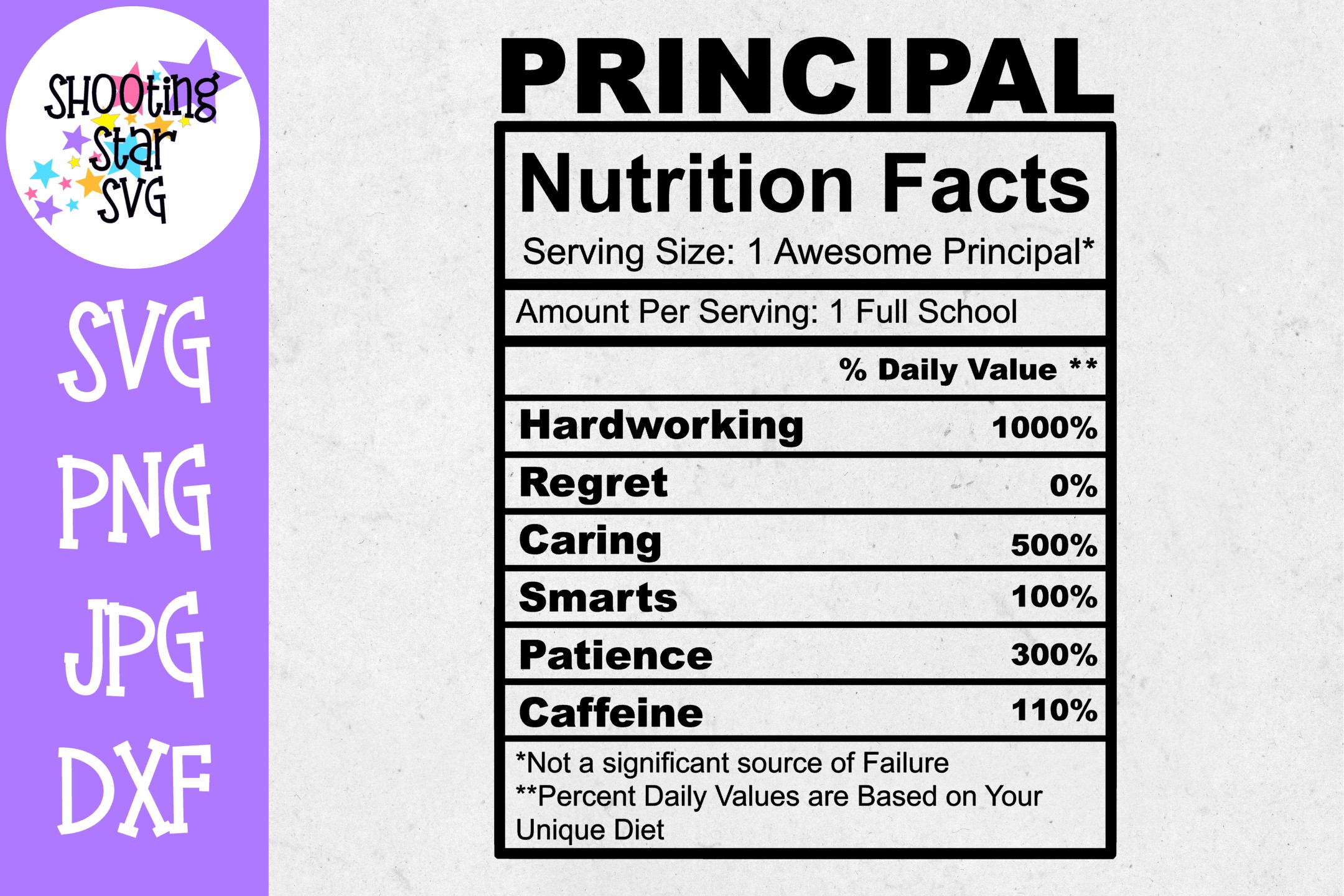 Principal Nutrition Facts SVG - Principal SVG example image 1