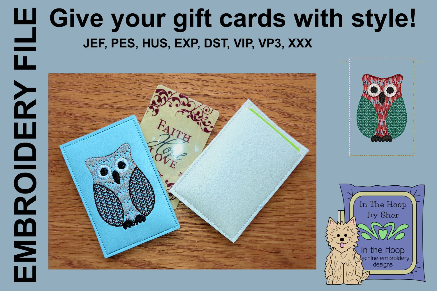 ITH Christmas Owl Gift Card Holder example image 2