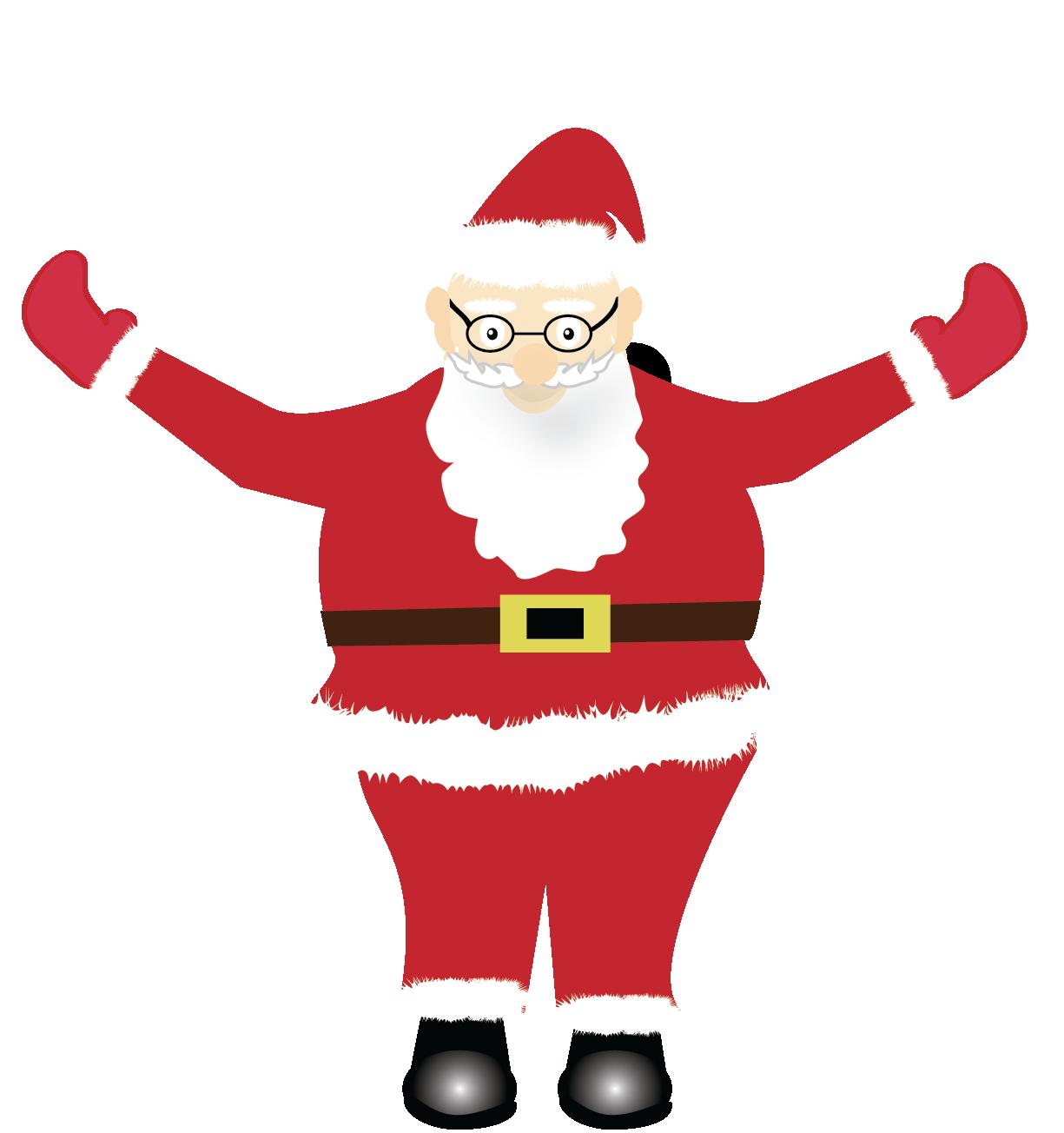 Print and Cut Santa Graphic File example image 3