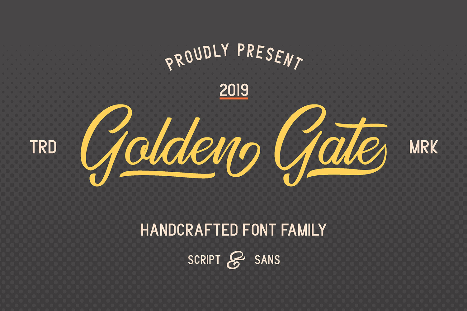 Golden Gate   Handcrafted Font Familyy example image 2