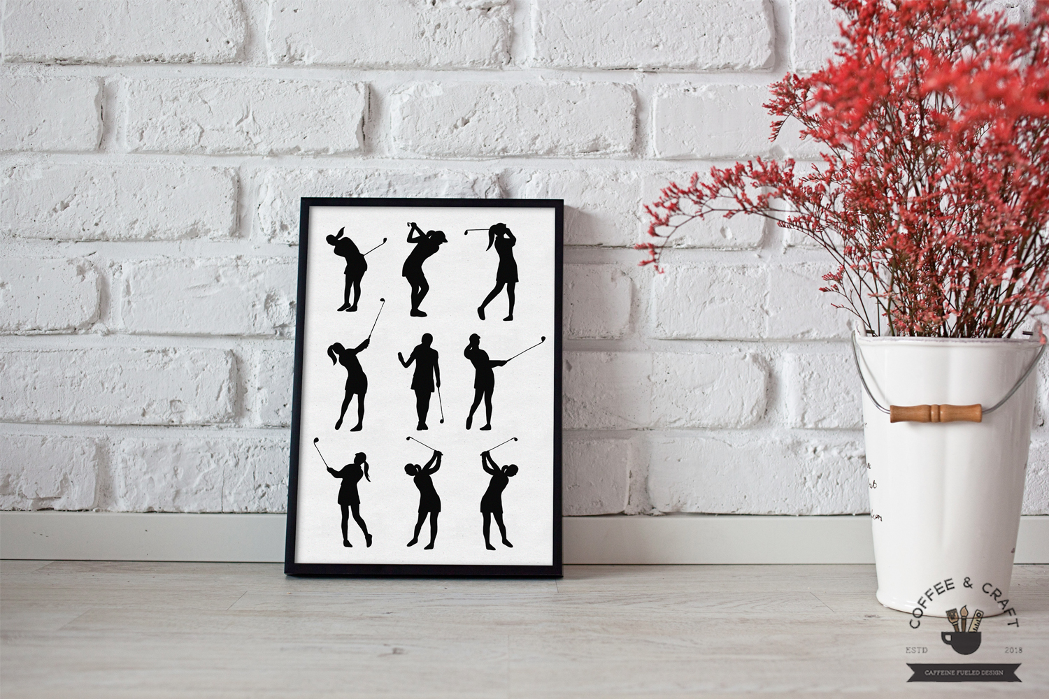 Golfer silhouettes female example image 5