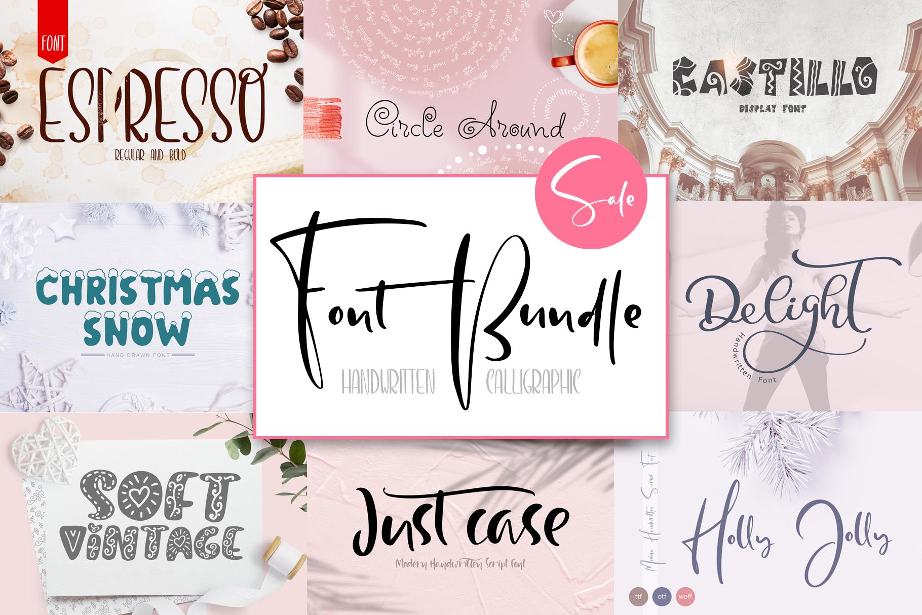 Font Bundle Handwritten Calligraphic example image 1