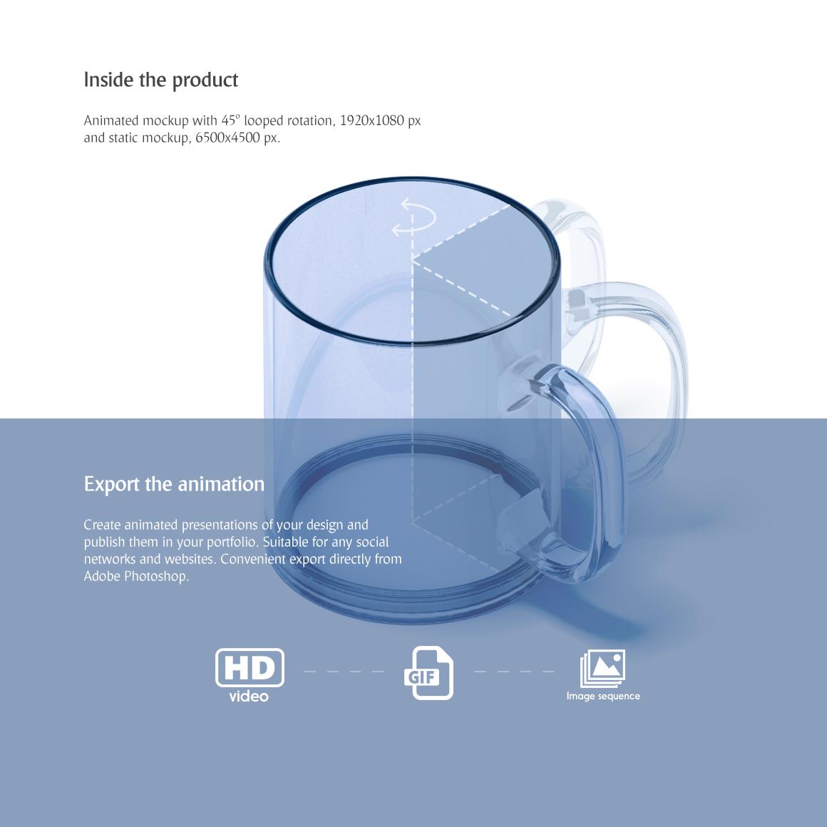 New Glass Mug Animated Mockup example image 3