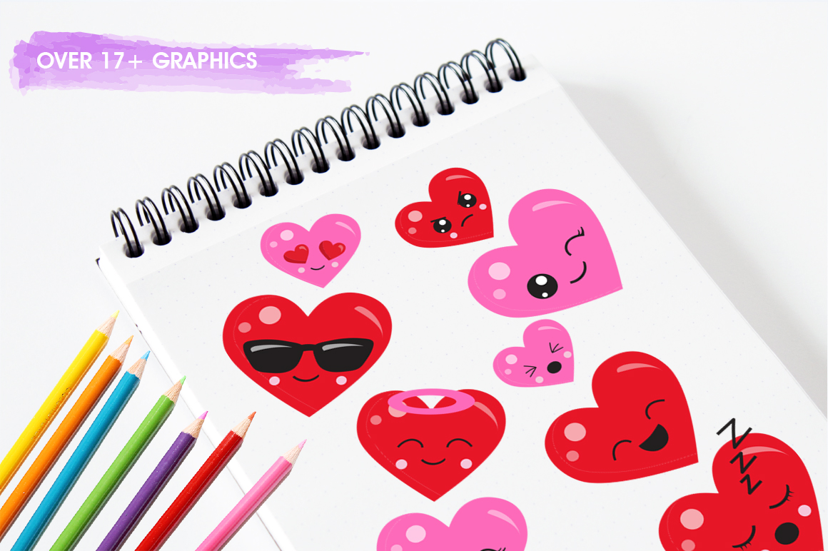 Colorful Heart graphic and illustrations example image 5