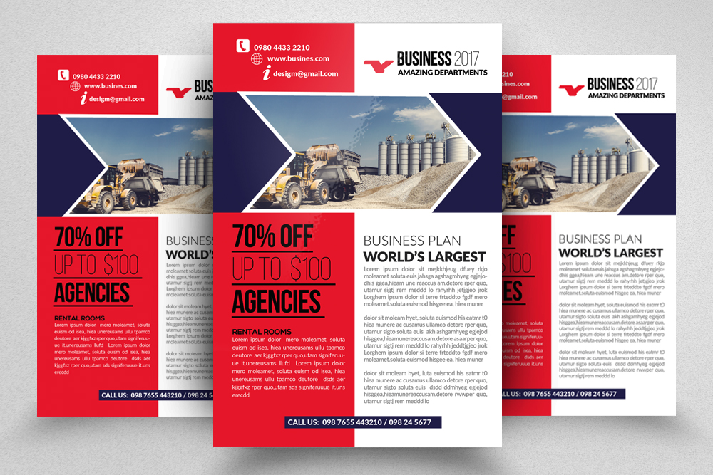 10 Corporate Psd Flyer Templates Bundle example image 9