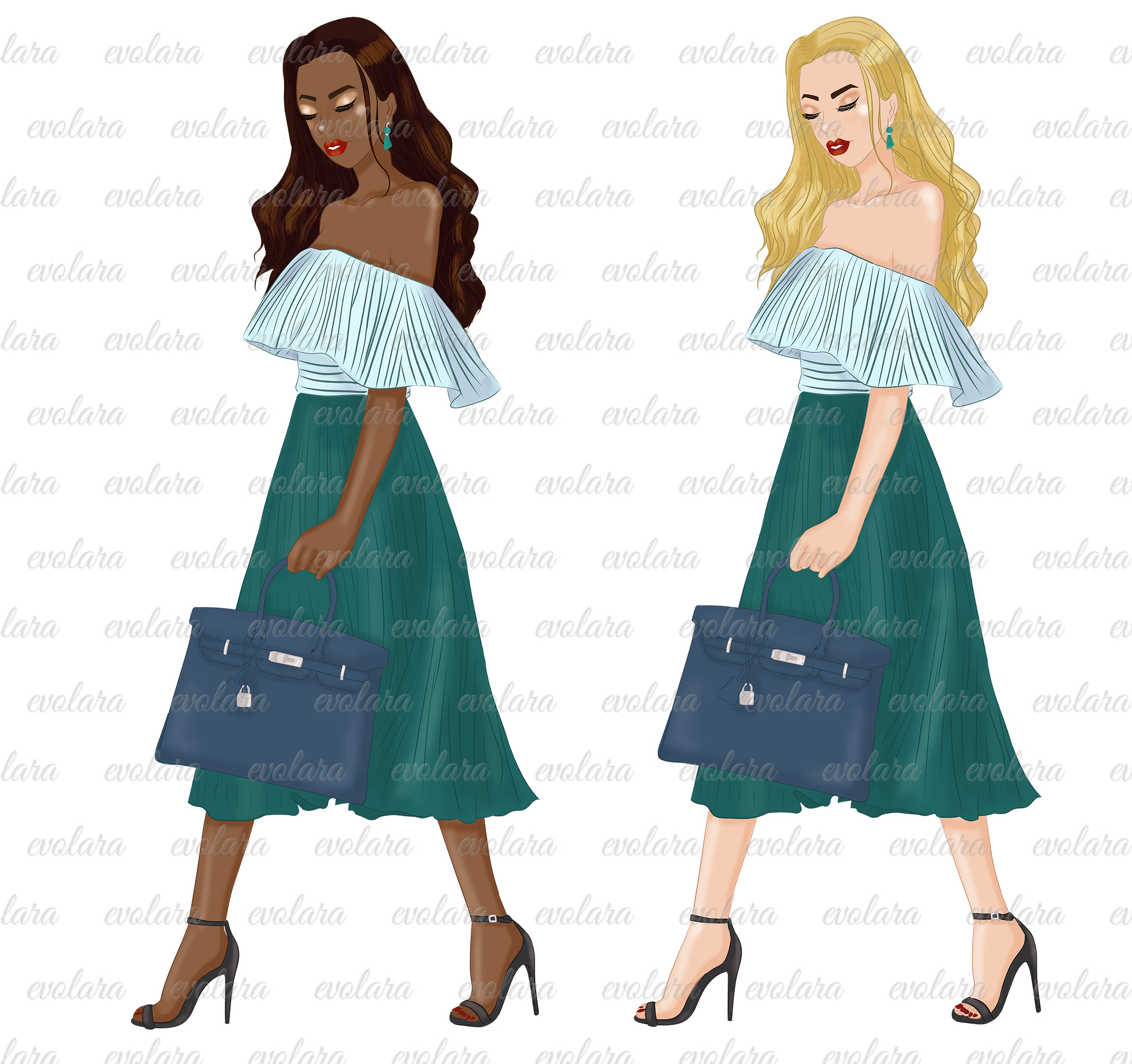 Fashion girl clipart girl boss clipart fashion illustrations example image 3