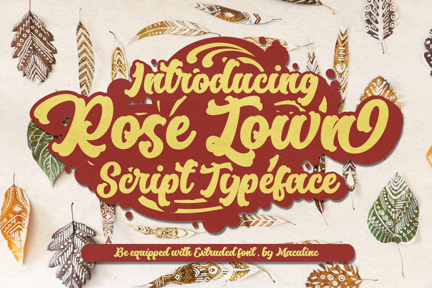 Rose Town Script Font example image 1