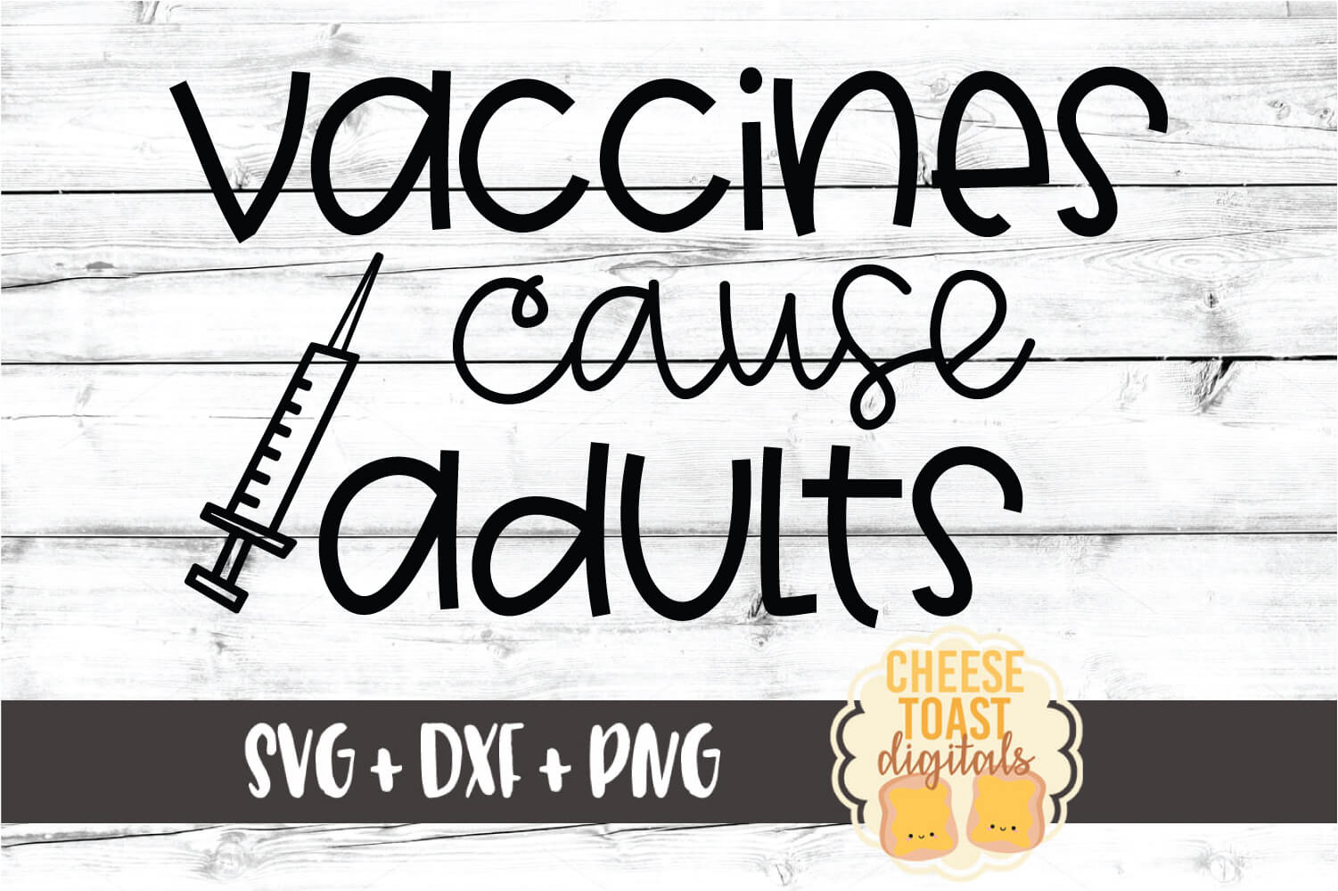 Vaccines Cause Adults - Nurse Design SVG PNG DXF Cut Files example image 2