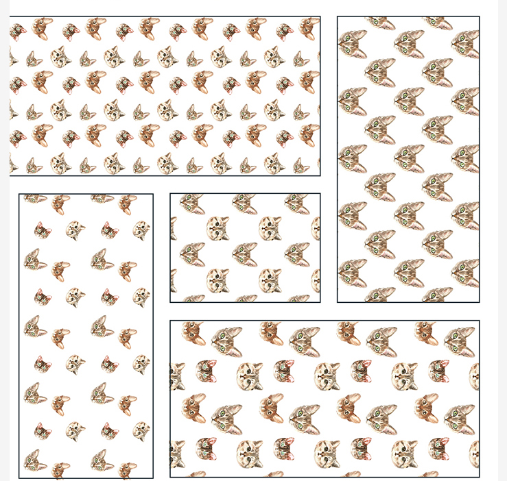 Cat watercolor patterns  example image 17
