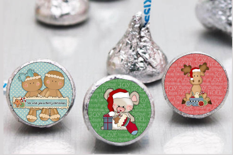 Christmas Bottlecap Images set 1, Labels example image 2