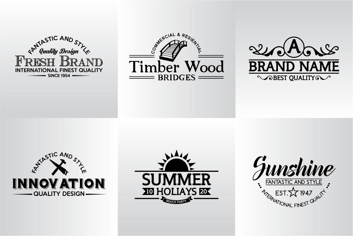 60 Vintage Bundle Logos Labels & Badges example image 16