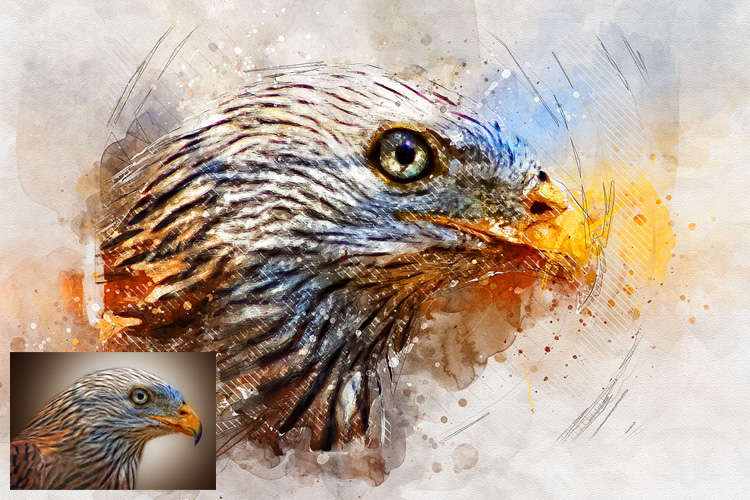 Watercolor Mixed Art Photoshop Action example image 11