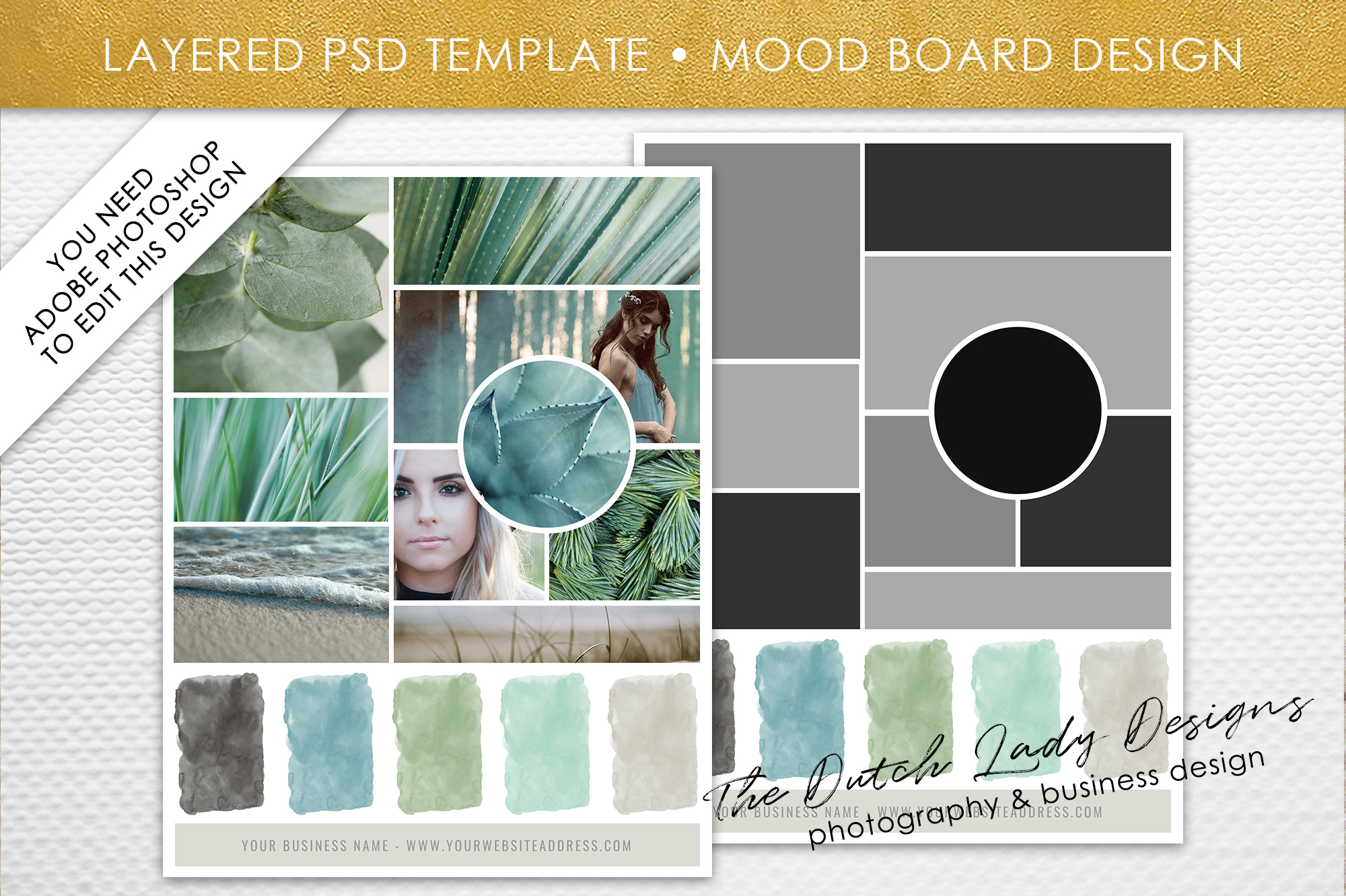 psd mood vision board template 6