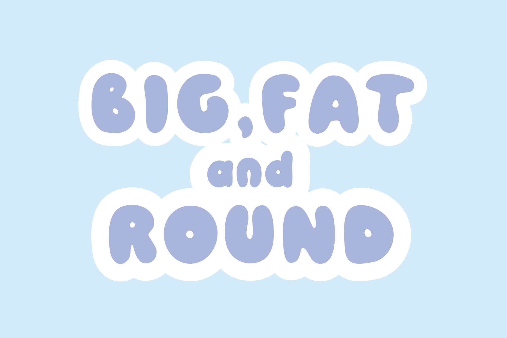 Pobble - a fun, round display font example image 4
